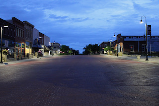 High Street at dusk