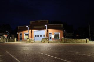 Lumberyard Arts Center at night