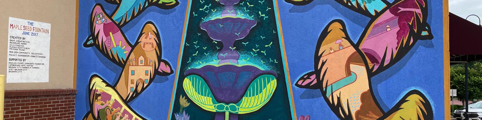 maple leaf mural